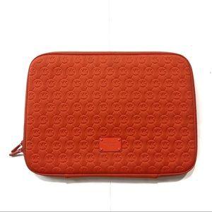 Michael Kors Monogrammed Zip Around Laptop Case